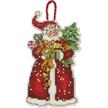 """70-08895 • Набор для вышивания крестом """"Санта. Украшение"""" • """"Santa Ornament"""" DIMENSIONS"""