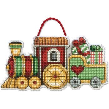 """70-08897 • Набор для вышивания крестом """"Поезд. Украшение"""" • """"Train Ornament"""" DIMENSIONS"""