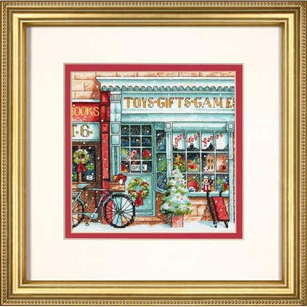 """70-08900 • Набор для вышивания крестом """"Магазин игрушек"""" • """"Toy Shoppe"""" DIMENSIONS"""