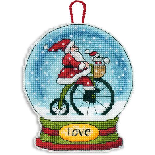 """70-08903 • Набор для вышивания крестом """"Снежный шар — Любовь. Украшение"""" • """"Love Snow Globe Ornament"""" DIMENSIONS"""
