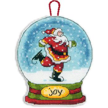 """70-08905 • Набор для вышивания крестом """"Снежный шар — Радость. Украшение"""" • """"Joy Snow Globe Ornament"""" DIMENSIONS"""
