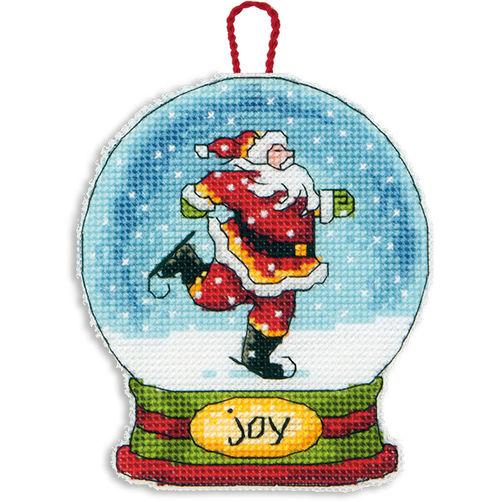 70-08905 Набор для вышивки крестом «Снежный шар — Радость. Украшение» • «Joy Snow Globe Ornament» DIMENSIONS