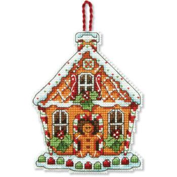 """70-08917 • Набор для вышивания крестом """"Пряничный домик. Украшение"""" • """"Gingerbread House Ornament"""" DIMENS"""