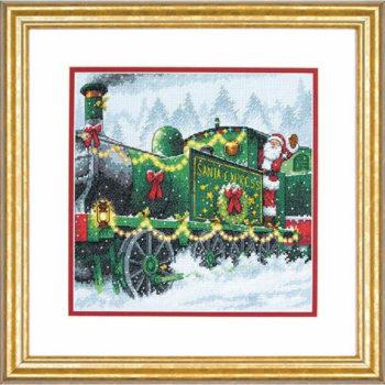 """70-08918 • Набор для вышивания крестом """"Экспресс Санты"""" • """"Santa Express"""" DIMENSIONS"""