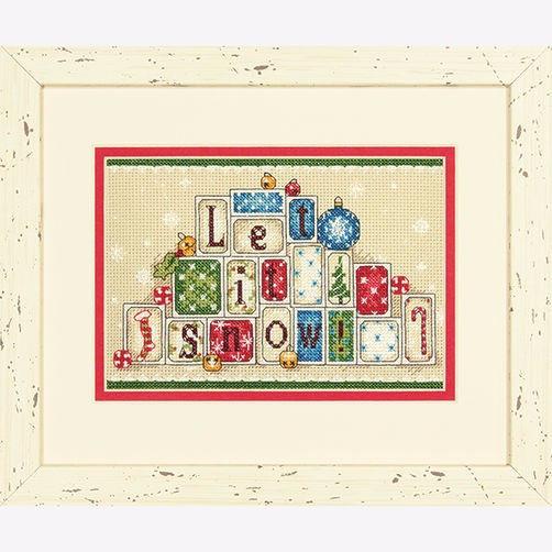 """70-08920 • Набор для вышивания крестом """"Пусть идет снег. Украшение"""" • """"Let It Snow"""" DIMENSIONS"""