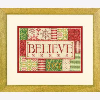 """70-08921 • Набор для вышивания крестом """"Верить. Украшение"""" • """"Believe"""" DIMENSIONS"""