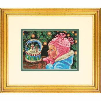 """70-08936 • Набор для вышивания крестом """"Рождественские пожелания"""" • """"Christmas Wishes"""" DIMENSIONS Gold Collection Petites"""