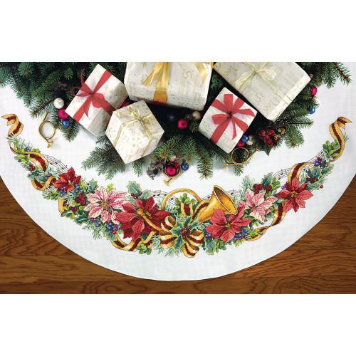 """70-08939 • Набор для вышивания крестом """"Праздничная гармония. Юбочка под елку"""" • """"Holiday Harmony Tree Skirt"""" DIMENSIONS"""