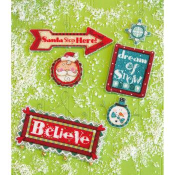 """70-08953 • Набор для вышивания крестом """"Причудливые знаки. Украшения"""" • """"Whimsical Signs Ornaments"""" DIMEN"""