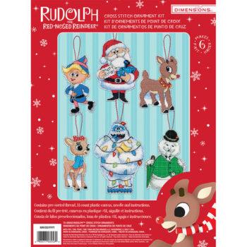 """70-08958 • Набор для вышивания крестом """"Рудольф. Украшения"""" • """"Rudolph Ornaments"""" DIMENSIONS"""