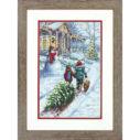 """70-08960 • Набор для вышивания крестом """"Рождественская традиция"""" • """"Christmas Tradition"""" DIMENSIONS"""