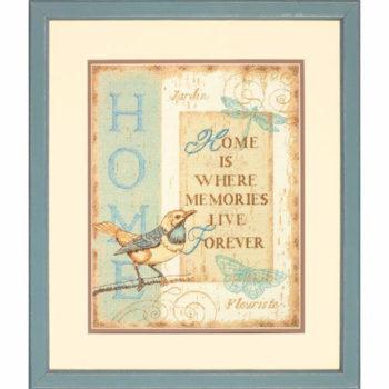"""70-35272 • Набор для вышивания крестом """"Воспоминания о доме"""" • """"Home Memories"""" DIMENSIONS"""