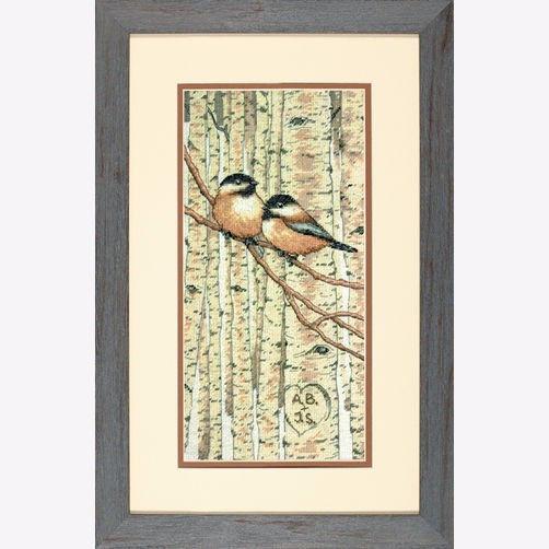 """70-35277 • Набор для вышивания крестом """"Любовь птиц"""" • """"Love Birds"""" DIMENSIONS"""