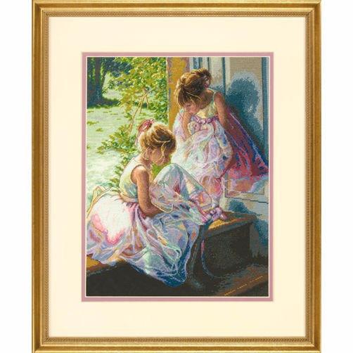 """70-35280 • Набор для вышивания крестом """"Мечта балерины"""" • """"Ballerina Dreams"""" DIMENSIONS Gold Collection"""