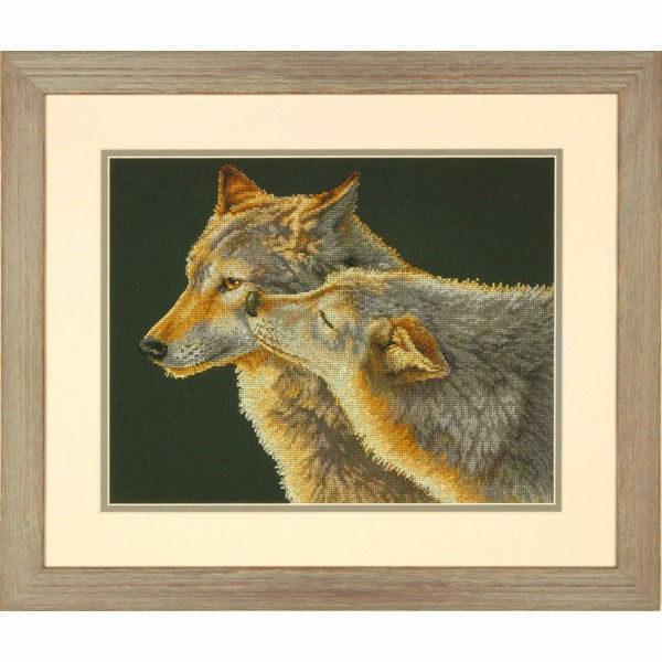 "70-35283 • Набор для вышивания крестом ""Поцелуй"" • ""Wolf Kiss"" DIMENSIONS"