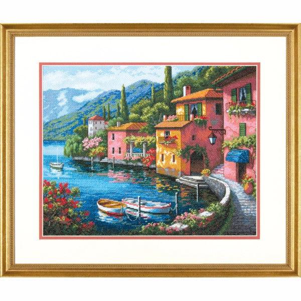 70-35285 Набор для вышивки крестом «Городок у озера» • «Lakeside Village» DIMENSIONS Gold Collection
