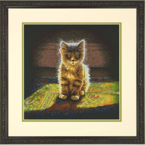 """70-35286 • Набор для вышивания крестом """"Пушистый котенок"""" • """"Warm and Fuzzy Kitten"""" DIMENSIONS"""