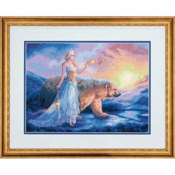 """70-35291 • Набор для вышивания крестом """"Аврора"""" • """"Aurora"""" DIMENSIONS Gold Collection"""