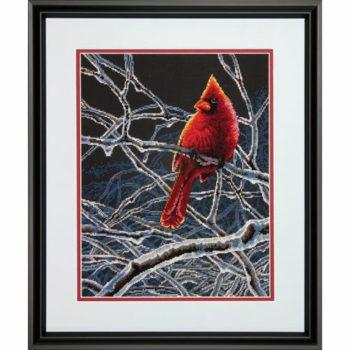 """70-35292 • Набор для вышивания крестом """"Ледяной кардинал"""" • """"Ice Cardinal"""" DIMENSIONS"""