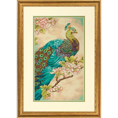 """70-35293 • Набор для вышивания крестом """"Индийский павлин"""" • """"Indian Peacock DIMENSIONS"""