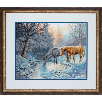 """70-35294 • Набор для вышивания крестом """"Морозное утро"""" • """"Frosty Morning"""" DIMENSIONS Gold Collection"""