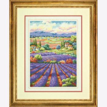 """70-35299 • Набор для вышивания крестом """"Лавандовые поля"""" • """"Fields of Lavender"""" DIMENSIONS Gold Collection"""