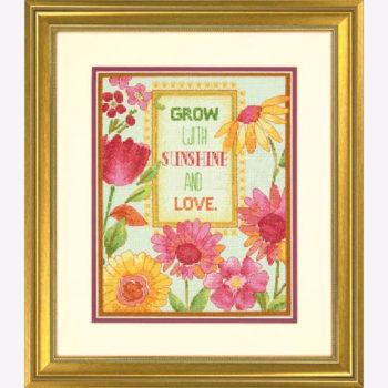 """70-35303 • Набор для вышивания крестом """"Маргаритки"""" • """"Painted Daisy Verse"""" DIMENSIONS"""