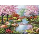 """70-35313 • Набор для вышивания крестом """"Японский сад"""" • """"Japanese Garden"""" DIMENSIONS Gold Collection"""