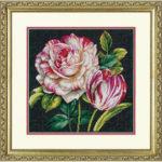 """70-35314 • Набор для вышивания крестом """"Тюльпаны"""" • """"Tulip Drama"""" DIMENSIONS"""