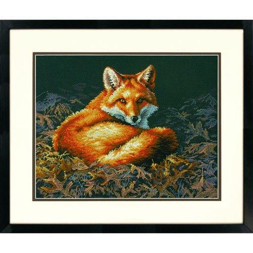 """70-35318 • Набор для вышивания крестом """"Лиса в солнечном синянии"""" • """"Sunlit Fox"""" DIMENSIONS"""