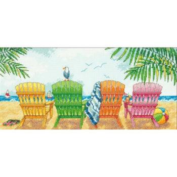 """70-35325 • Набор для вышивания крестом """"Пляжный кресла"""" • """"Beach Chairs"""" DIMENSIONS"""