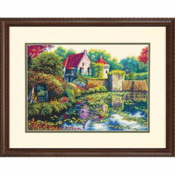 """70-35326 • Набор для вышивания крестом """"Английский замок"""" • """"English Castle"""" DIMENSIONS"""