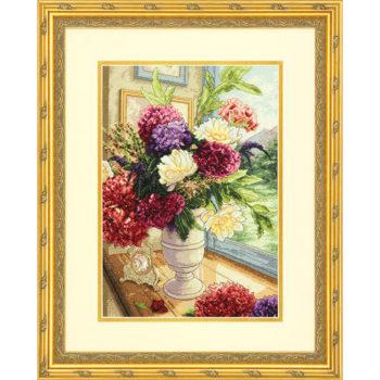 """70-35328 • Набор для вышивания крестом """"Летний букет"""" • """"Summer Bouquet"""" DIMENSIONS Gold Collection"""