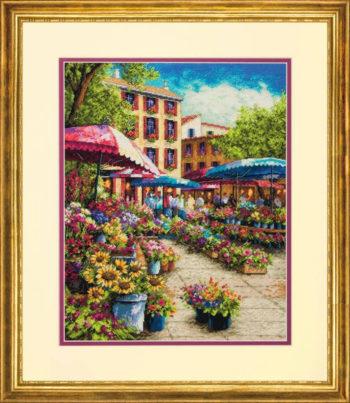 """70-35333 • Набор для вышивания крестом """"Провинциальный рынок"""" • """"Provence market"""" DIMENSIONS Gold Collection"""
