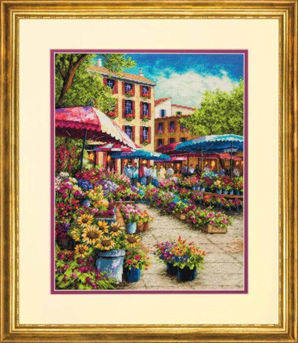 70-35333 Набор для вышивки крестом «Рынок в Провансе» • «Provence market» DIMENSIONS Gold Collection