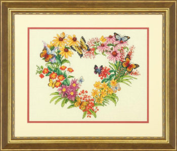 """70-35336 • Набор для вышивания крестом """"Венок из полевых цветов"""" • """"Wildflower Wreath"""" DIMENSIONS"""