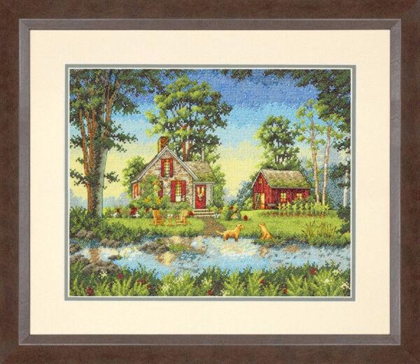 """70-35340 • Набор для вышивания крестом """"Летний коттедж"""" • """"Summer Cottage"""" DIMENSIONS"""