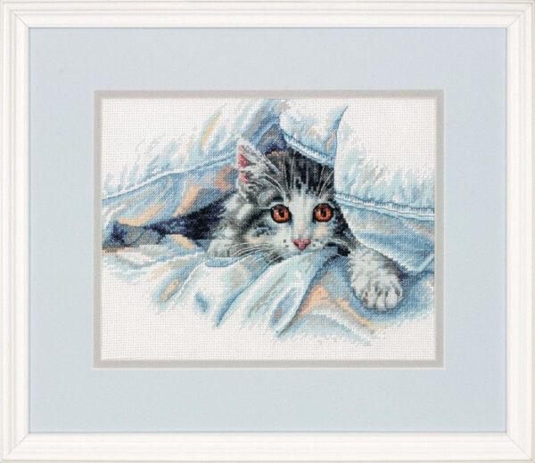 """70-35341 • Набор для вышивания крестом """"Кошачий уют"""" • """"Cat Comfort"""" DIMENSIONS"""