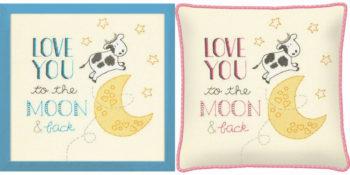 """70-35346 • Набор для вышивания крестом """"К луне"""" • """"To the Moon"""" DIMENSIONS"""