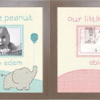 """70-35348 • Набор для вышивания крестом """"Малыш"""" • """"Little Peanut"""" DIMENSIONS"""