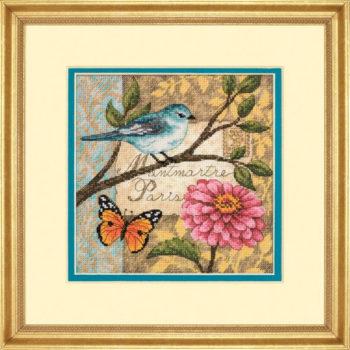 """70-65103 • Набор для вышивания крестом """"Птичья почта"""" • """"Bird Poste"""" DIMENSIONS Gold Collection Petites"""