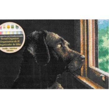 """70-65104 • Набор для вышивания крестом """"Размышляющий друг"""" • """"Pondering Pup"""" DIMENSIONS"""
