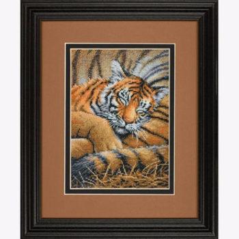 """70-65105 • Набор для вышивания крестом """"Спящий тигренок"""" • """"Cozy Cub"""" DIMENSIONS Gold Collection Petites"""