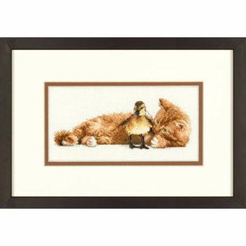 """70-65121 • Набор для вышивания крестом """"Пушистые друзья"""" • """"Furry Friends"""" DIMENSIONS Gold Collection Petites"""