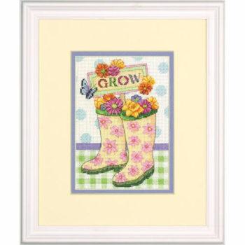 """70-65127 • Набор для вышивания крестом """"Выращивание"""" • """"Grow"""" DIMENSIONS"""