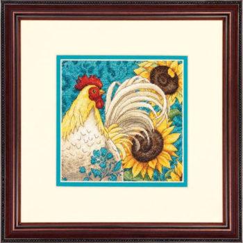 """70-65130 • Набор для вышивания крестом """"Петух"""" • """"Rooster"""" DIMENSIONS Gold Collection Petites"""