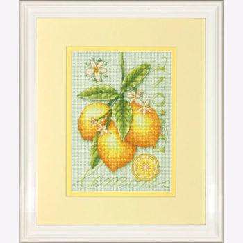 """70-65132 • Набор для вышивания крестом """"Лимоны"""" • """"Lemons"""" DIMENSIONS"""