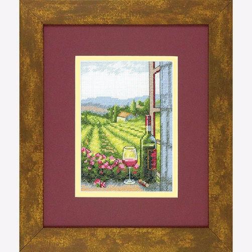 """70-65137 • Набор для вышивания крестом """"Вино с видом"""" • """"Wine with a View"""" DIMENSIONS"""