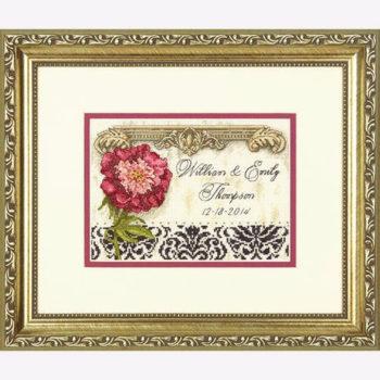 """70-65138 • Набор для вышивания крестом """"Элегантная свадьба"""" • """"Elegant Wedding Record"""" DIMENSIONS Gold Collection Petites"""