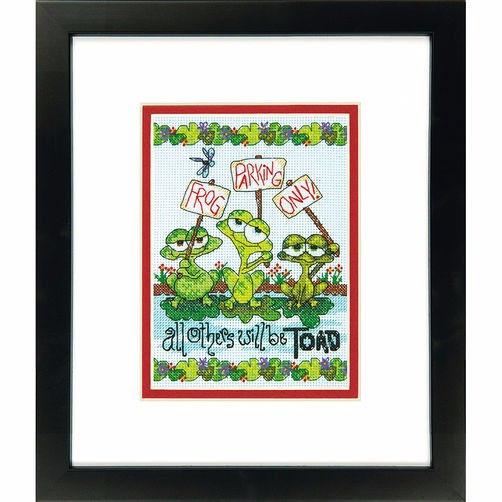 """70-65148 • Набор для вышивания крестом """"Жабья стоянка"""" • """"Frog Parking"""" DIMENSIONS"""
